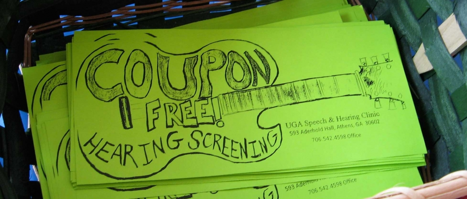 Hearing Screening coupons
